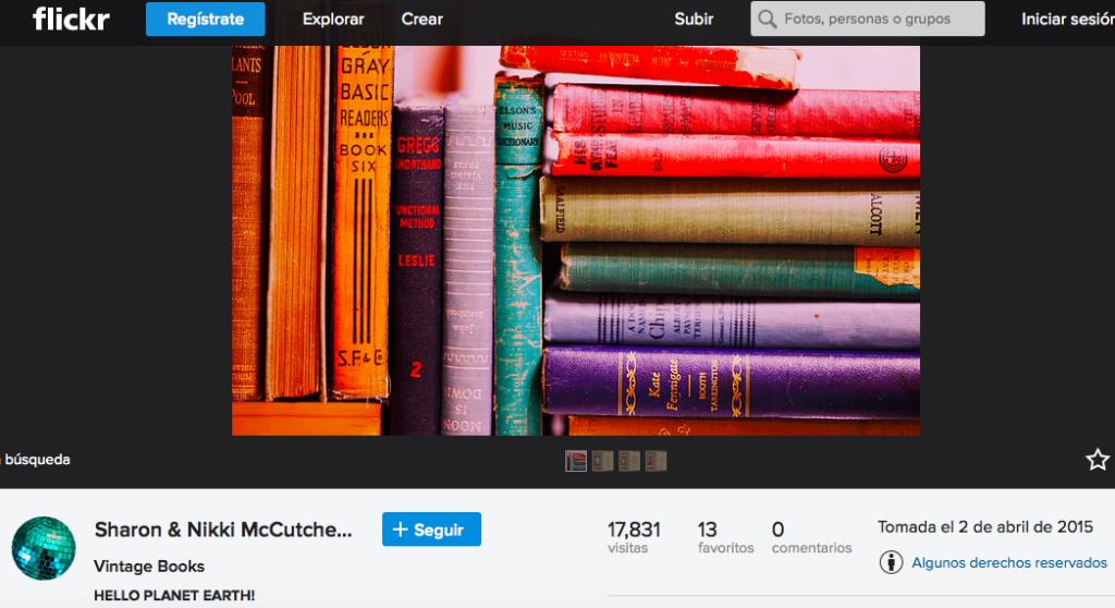 Flickr para buscar imágenes CC