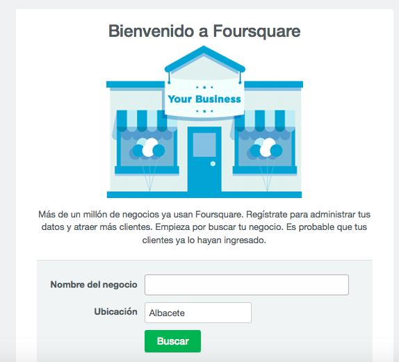 Reclama tu negocio en Foursquare
