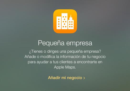 Añade mi negocio Apple Maps
