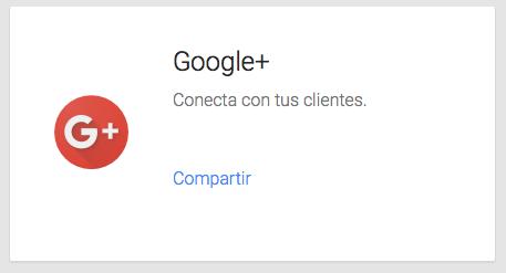 Acceso a Google+ desde el inicio de Google My Business
