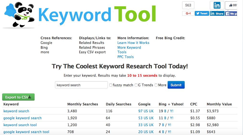 seobook keyword tool