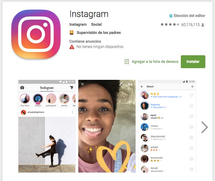 como crear cuenta instagram android