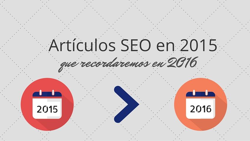 Articulos SEO 2015 para 2016